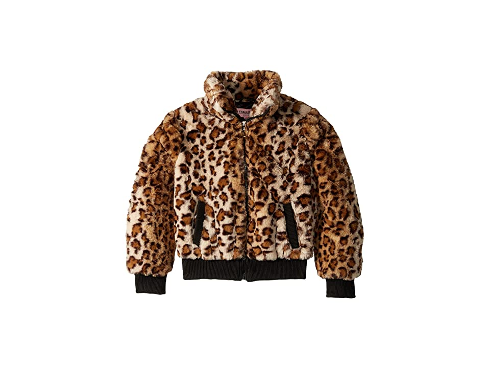 Urban Republic Kids Amanda Faux Fur Bomber Jacket (Little Kids/Big Kids) (Jaguar Print) Girl