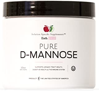 Pure D-Mannose Powder Supplement - Bulk D-Mannose 10oz (283 g) 120 Servings for UTI, Bladder, & Urinary Tract Health