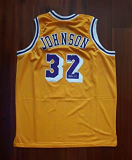 25e4a8eb342 Earvin Magic Johnson Autographed Signed Jersey Los Angeles Lakers PSA DNA