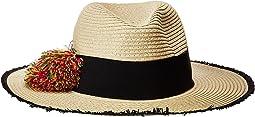 Betsey Johnson - Pom Pom Girl Panama Hat