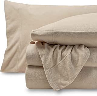Bare Home Fleece Super Soft Premium Sheet Set - Extra Plush Pill-Resistant All Season Cozy Breathable Hypoallergenic (Full, Sand)