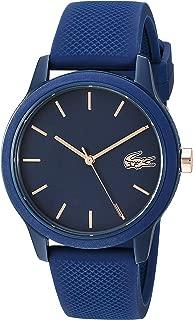 TR90 Quartz Watch with Rubber Strap, Blue, 17.2 (Model: 2001067)