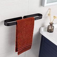 Handdoekenrek zonder boren, handdoekhouders voor badkamers, aluminium handdoekenrek met zelfklevende sticker, matte afwerk...
