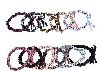 ZHEPIN 11pcs Girls No-Damage Elastic Hairband Rope Tiny Ponytail Holder Mixed Colors Headband Accessories