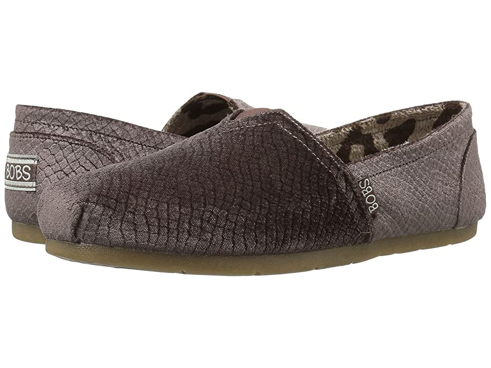 BOBS from SKECHERS Luxe Bobs Fleetwood (Dark Taupe) Women