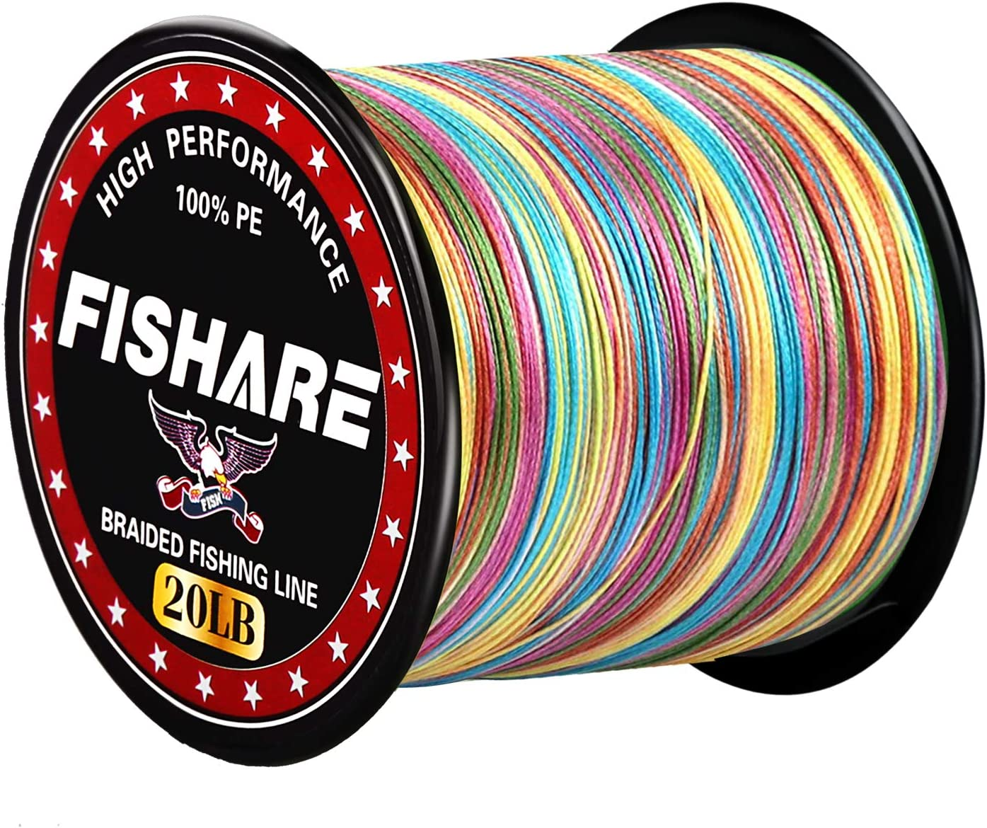 FISHARE PE 4 8 Strands Braided Fishing Outstanding years warranty 20 50 30 10 40 Line LB