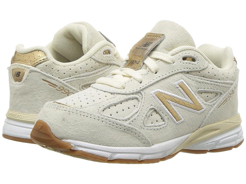 New Balance Kids KJ990v4I (Infant/Toddler) (Angora/Gold) Girls Shoes
