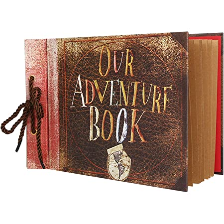 Vienrose Album Fotografico Fai-da-Te Our Adventure Book Album Foto di Famiglia Regalo per Compleanno Anniversary Matrimonio Natale Scrapbooking
