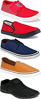 WORLD WEAR FOOTWEAR Sports Running Shoes/Casual/Sneakers/Loafers Shoes for Men Multicolor (Combo-(5)-1219-1221-1140-664-772)