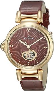 EDOX - 85025 37RC ROUIR LaPassion Reloj analógico Suizo automático Rojo para Mujer