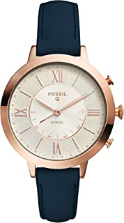 Fossil Women Jacqueline Stainless Steel and Leather Hybrid Smartwatch