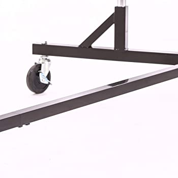 Commercial Garment Rack (Z Rack) - Rolling Clothes Rack, Z Rack With KD Construction With Durable Square Tubing, Comm...