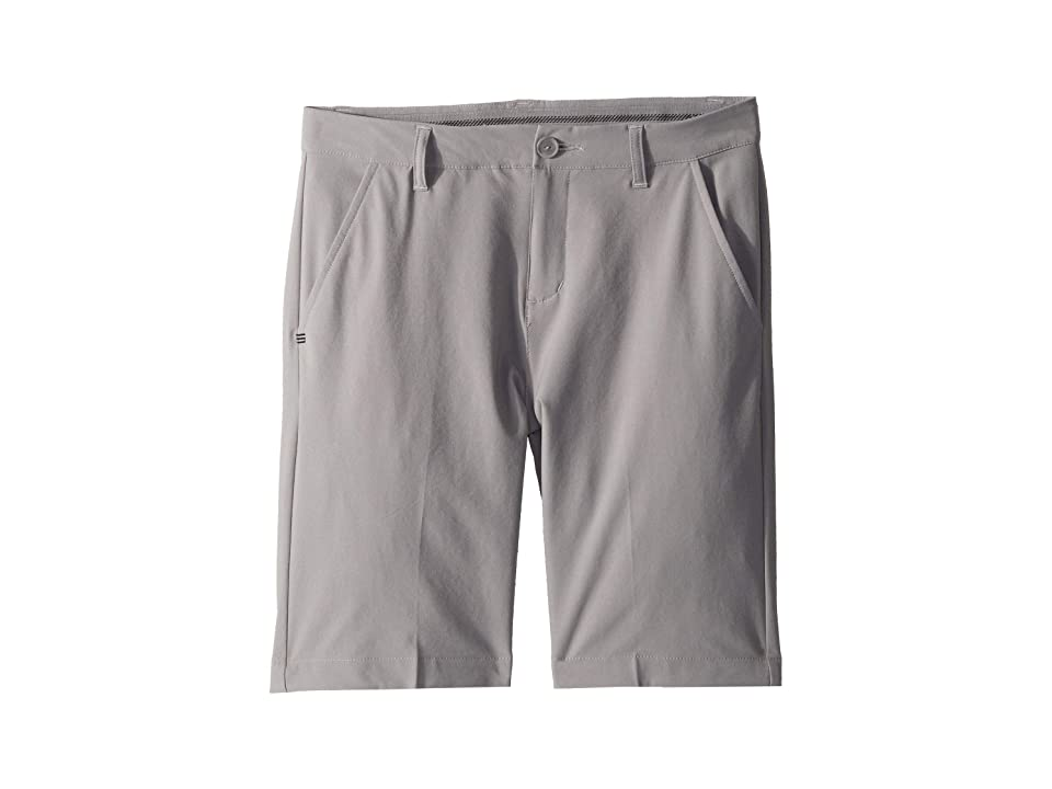 Image of adidas Golf Kids Solid Golf Shorts (Little Kids/Big Kids) (Grey Three) Boy's Shorts