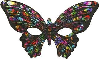Forum Mardi Gras Masquerade Costume Half Mask Glitter Butterfly