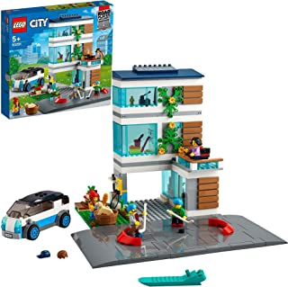 LEGO 60291 City Family House Modern Dollhouse Building Set with Road Plates