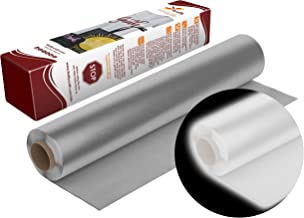 Firefly Craft Reflective Silver Heat Transfer Vinyl   Reflecting HTV Vinyl   Iron On Vinyl for Cricut and Silhouette   5 Feet by 12.25 Roll   Heat Press Vinyl for Shirts