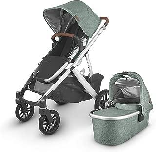 Vista V2 Stroller - Emmett (Green Melange/Silver/Saddle Leather)