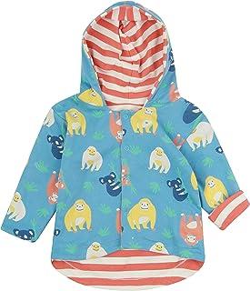 Piccalilly Veste réversible pour enfant, légère, en jersey de coton biologique doux, imprimé orang-outan pour filles et ga...