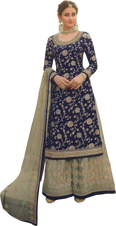 HRN Nitya's Ready to Wear Indian Pakistani Ethnic Wear Designer Punjabi Salwar Kameez Palazzo Style Salwar Suit for Women