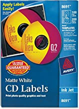 Avery CD Labels – 100 Disc labels & 200 Spine labels (8691)