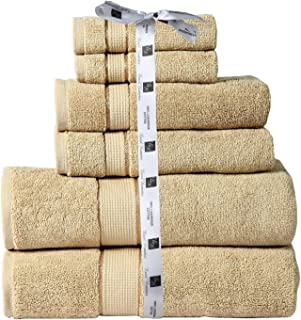Cozy Home Collection Luxurious Hotel Spa Quality 100% Cotton Absorbent 700 GSM 6PC Bathroom Towel Set Made of 100% Long-Staple Combed Cotton, 2 Washcloths, 2 Hand Towels, 2 Bath Towels- Taupe