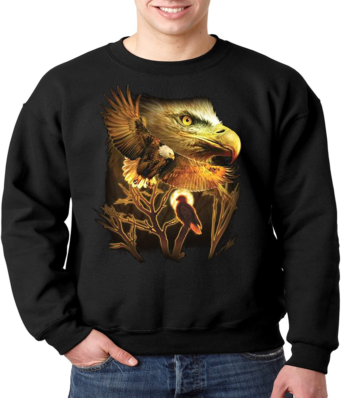 Patriotic Wild Life Crewneck Max Indefinitely 63% OFF Eagle Sweatshirt American
