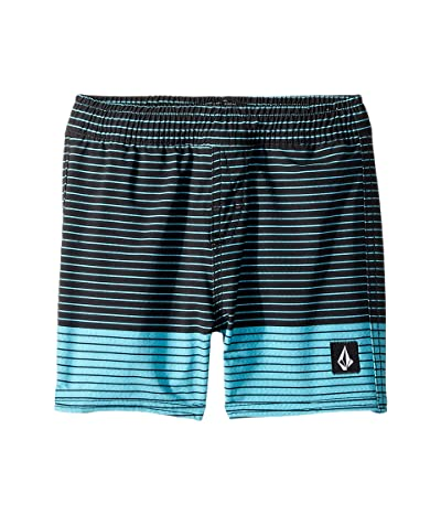 Volcom Kids Lido Heather Volley Boardshorts (Toddler/Little Kids) (Cyan Blue) Boy
