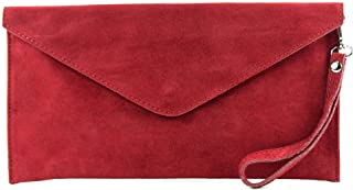 modamoda de - ital embrague/noche bolsa de gamuza T106, Color:púrpura
