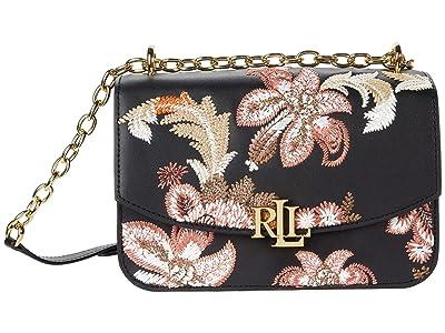 LAUREN Ralph Lauren Madison 22 Crossbody (Black) Handbags