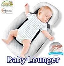Comfyt Baby Lounger - Baby Nest - Baby Sleeper - Baby Bassinet - Baby Crib Newborn Lounger Baby Hammock Baby Pillow Baby Memory Foam Pillow Removable Washable Ultra Soft Bamboo Cover Sleep Lounger