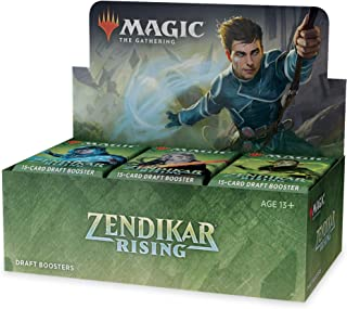Magic: The Gathering Zendikar Rising Draft Booster Box | 36 Booster Packs (540 Cards) + 1 Box Topper | 36 Full Art Lands |...
