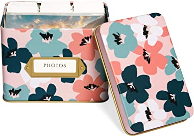 Jot & Mark Photo Organizer Storage Tin Box Set   Includes 9 Tabbed Dividers and 200 Clear Acid Free Protective Sleeves fo