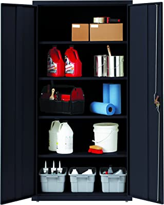 Office Dimensions Storage Cabinet with 4 Adjustable Shelves, 18