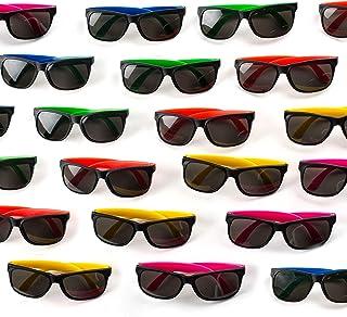 Neliblu 30 Pack Neon Bulk Kids Sunglasses With UV...