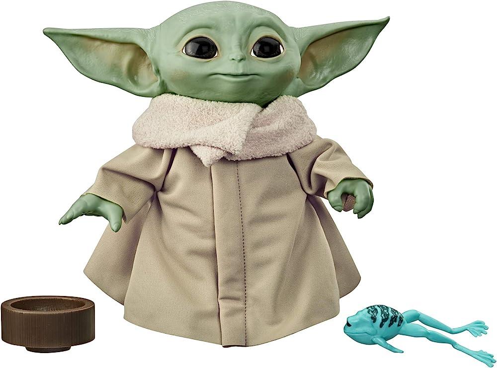 Peluche the child , baby yoda con suoni ed accessori tipici del personaggio , 19 cm F1115