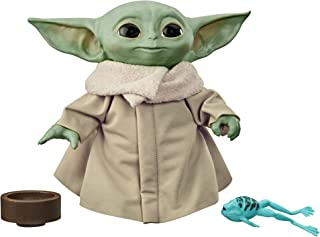 STAR WARS F1115 The Child Talking Plush Toy with Character Sounds and Accessories, The Mandalorian Toy Green