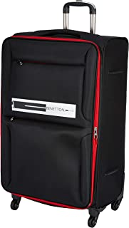 United Colors of Benetton Polyester 70 cms Black Softsided Check-in Luggage (0IP6EAS28F03I)