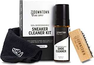 Biodegradable Shoe Cleaner Kit - Downtown Shoe Supply Co. - for Suede, White Shoe, Golf Shoe, Canvas, Fabric, Rubber and Sole. All-In-One Kit for Easy Shoe Cleaning