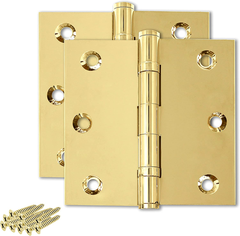 Finsbury Hardware Solid Brass Door Mesa Mall Industry No. 1 Bearing Duty Ball Hinge Heavy