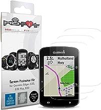 Screen Protector Kit for Garmin Edge 520, 520 Plus, 820 (Tempered Glass) 3-Pack