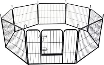 Extra Heavy Duty 8 Panel Pet Playpen Dog Cage Puppy Exercise Crate Enclosure Rabbit Fence