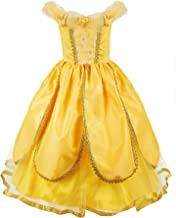 JerrisApparel Princess Belle Costume Deluxe Party Fancy Dress Up for Girls