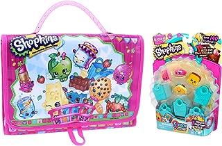 Shopkins Carry Case & Figures Set   Includes (1) Carry Case + (5) Random Assorted Figures + (5) Baskets