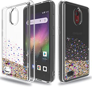 Wtiaw:Coolpad Illumina Case(2018),Coolpad 3310A Case,Coolpad Legacy go Case,Coolpad Illumina/Legacy go Phone Cases,Flowing Liquid Floating Ultra Thin Shock Absorption Case for Legacy go-SA Rose Gold