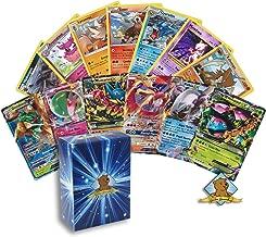 Pokemon Ultra Rare Lot - 1 GX - 1 MEGA EX - 3 EX Ultra Rares - 5 Random Rares! Includes Golden Groundhog Deck Box!