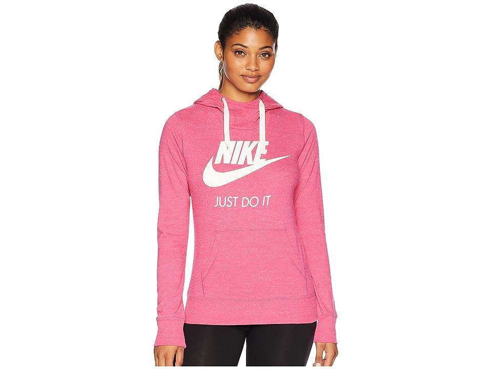 Nike Sportswear Gym Vintage HBR Hoodie (Watermelon/Sail) Women