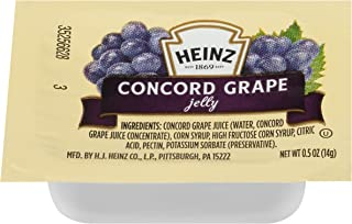 HEINZ Single Serve Grape Jelly, 0.5 oz. Cups (Pack of 200)