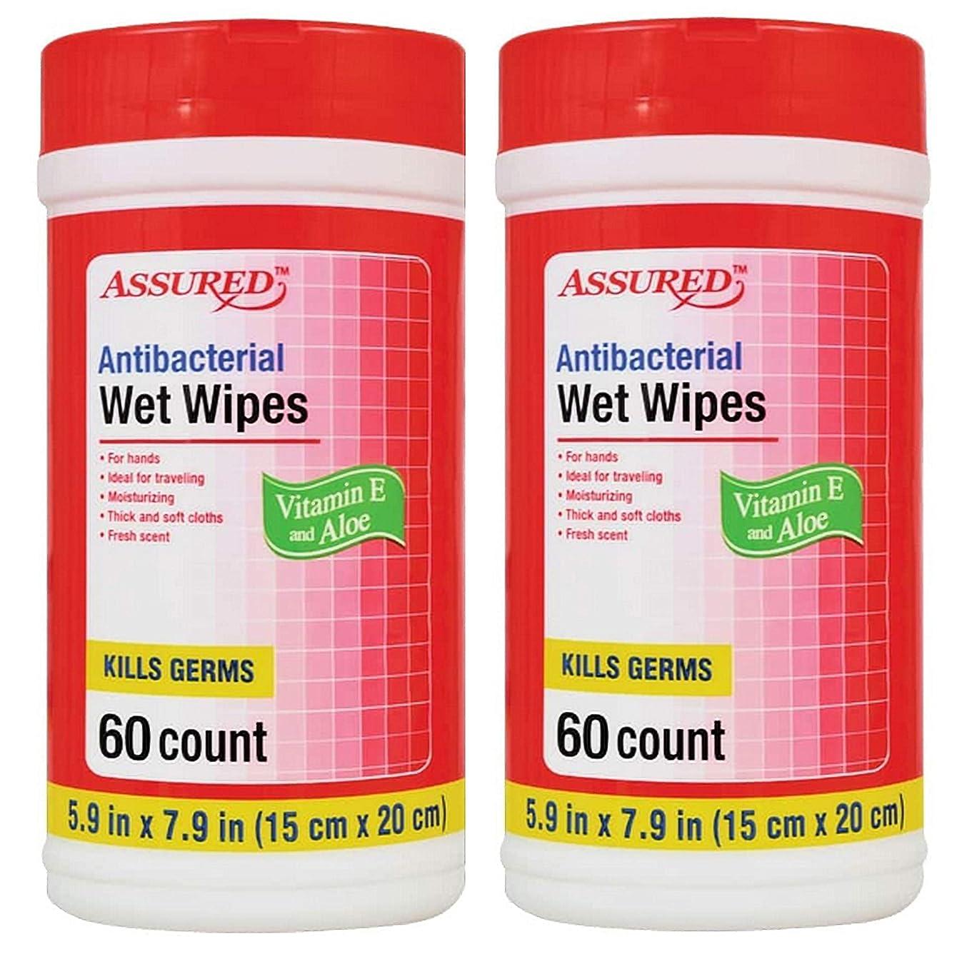 Assured Antibacterial Wet Wipes 60 (2 Pack)