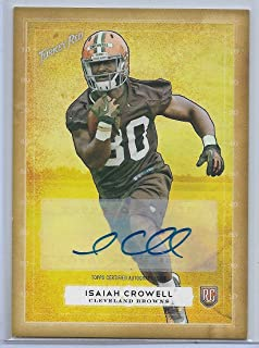 2014 Topps Turkey Red Football Isiah Crowell Autograph Rookie Card # 54