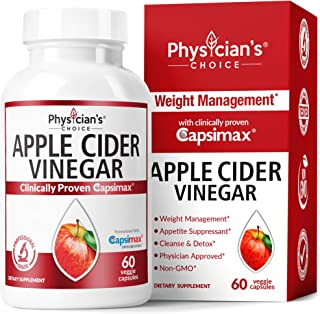 Apple Cider Vinegar Capsules for Weight Loss Support (Award Winning Capsimax Formula), Fat Burners for Women & Men, Promot...